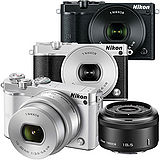 Nikon 1 J5 10-30mm + 30-110mm 望遠雙鏡組(公司貨)-加送64G卡+專用電池X2+防潮箱+大吹球清潔組+拭鏡筆+保護鏡X2+專用相機包