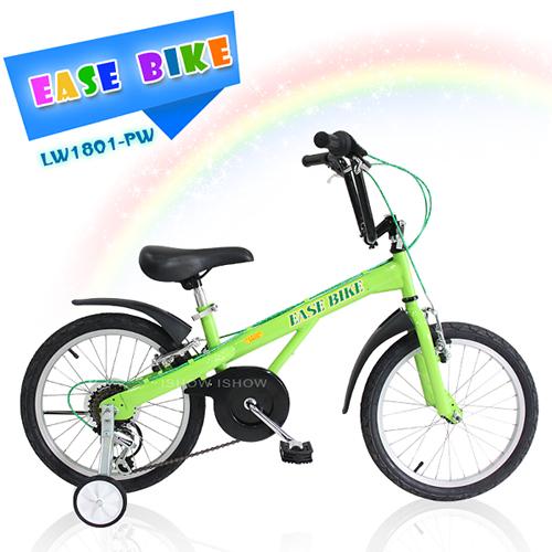 EASE BIKE 18吋6速 SHIMANO 巨輪多 休閒車 輔助輪 童車