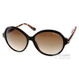 TOM FORD太陽眼鏡 奢華百搭圓框款(黑-琥珀) #TOM0343 05B
