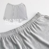 【岱妮蠶絲】FM09202L純蠶絲短纖95G中腰四角內褲(銀灰EL)