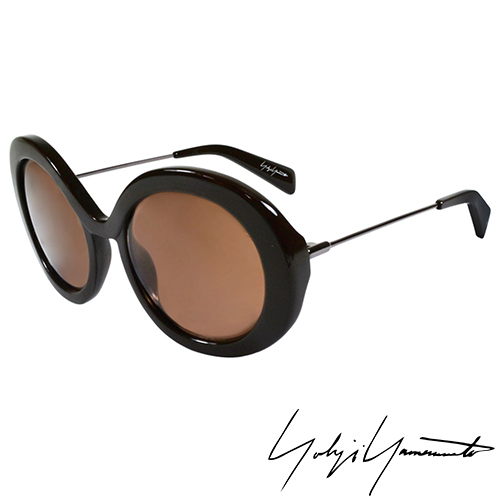 Yohji Yamamoto 山本耀司 前衛復古圓形太陽眼鏡~咖啡~YY5001~115