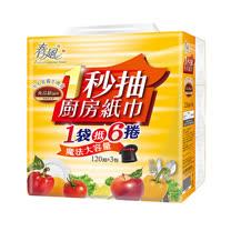 【春風】1秒抽廚紙(120抽x3包x8串/箱)