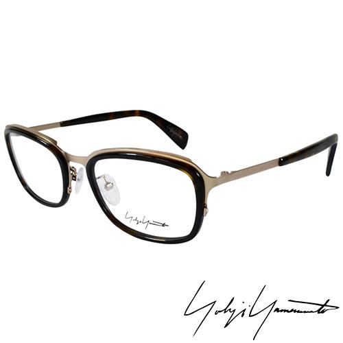 Yohji Yamamoto 山本耀司 立體方框 光學眼鏡~琥珀金~YY1022~127