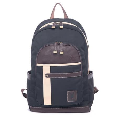 PLAYBOY- Oak camel 橡木駝系列 後背包-黑色