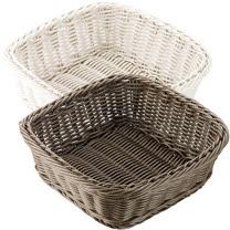 《TESCOMA》耐熱編織麵包籃(方24cm)