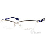 Masaki Matsushima眼鏡 簡約沉穩眉框款(銀-藍) #MFS106 C02