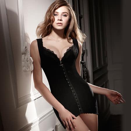 【LADY】纖體塑身系 重機能美型束裙(黑色)
