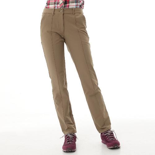 【hilltop山頂鳥】女款超潑保暖彈性長褲H31FJ2-卡其