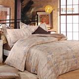 【柔得寢飾】ZEN  羅根 長絨棉四件式床包組 雙人 ZLF65