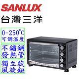 【台灣三洋 SANLUX】30L旋風式定時電烤箱SK-30D