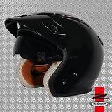 【ZEUS瑞獅 ZS-381C 素色】復古帽/飛行帽 安全帽│可全拆內襯CP值超高