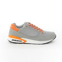 AIRWALK(男) - 舒適透氣縷空AIR休閒慢跑運動鞋 -淺灰