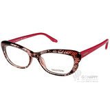 VALENTINO眼鏡 蕾絲格紋小框女款(格紋透紅-紅) #VA2654 C524