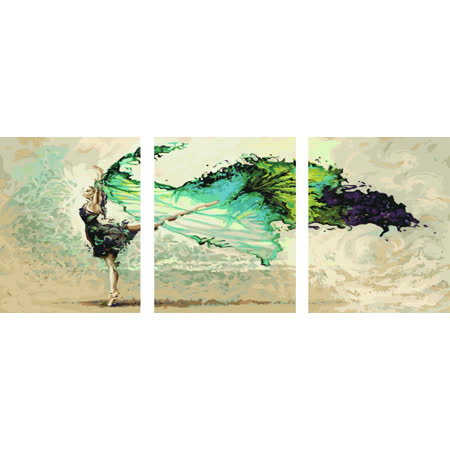 ArtLife藝術生活【93025】水墨舞蹈_DIY 數字 油畫 彩繪 40*50cm*3幅