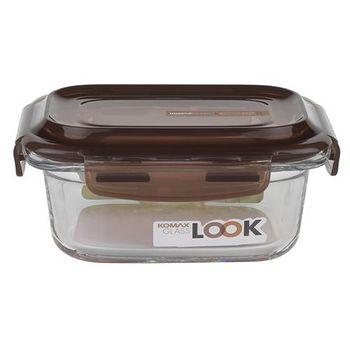 KOMAX 巧克力長形強化玻璃保鮮盒340ml (59074)