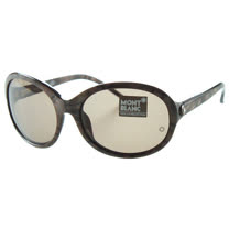 萬寶龍MONTBLANC-時尚太陽眼鏡(咖啡石紋)MB138S