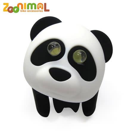 【zoonimal】 可爱动物led单车用前灯 黑轮熊猫