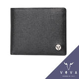 VOVA 凱旋系列4卡零錢袋IV紋短夾(黑色)VA104W007BK