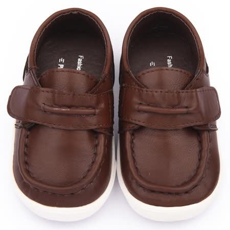 童鞋城堡-二等兵 小童 手工縫製小紳士休閒鞋5509-咖啡