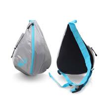ASICS LITE-SHOW 大肩背包-自行車 側背包 亞瑟士 銀水藍 F