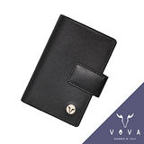 VOVA 自由系列4卡蜥蜴紋舌片名片夾(黑色)VA106W027BK