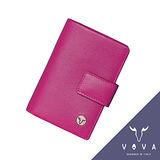 VOVA 自由系列4卡蜥蜴紋舌片名片夾(桃紅色)VA106W027FU