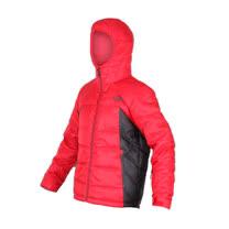(男) THE NORTH FACE 550 FILL羽絨外套 - 防風 保暖  黑紅