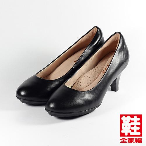 (女) LUZZI 羊皮高跟鞋 黑  鞋全家福
