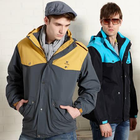 【Abel Foxs】男版兩件式夾克/黑藍