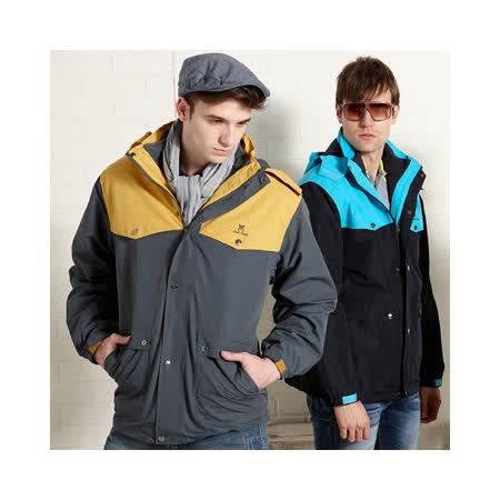 【Abel Foxs】男版兩件式夾克/灰黃