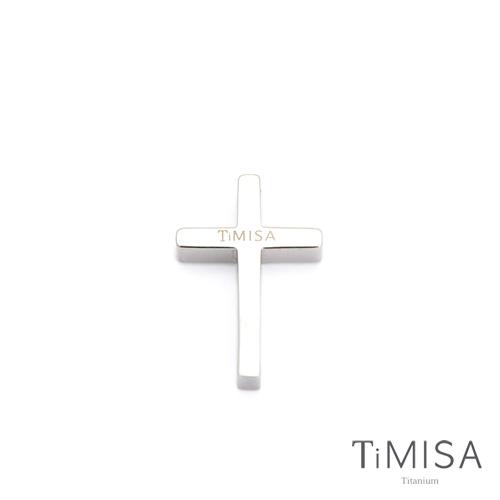 ~TiMISA~簡約十字 純鈦墜飾 S