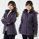 【遊遍天下】JIS90%羽絨極暖防風防潑水中長版羽絨外套A062暗紫