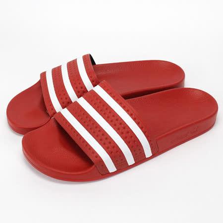 Adidas 男鞋 /女鞋 拖鞋-紅-288193