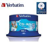 Verbatim 威寶 52x CD-R 水藍片 azo 珍珠白 滿版可列印 50片裝