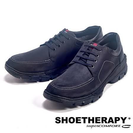SAPATOTERAPIA(男) 巴西舒適綁帶有機休閒鞋-黑