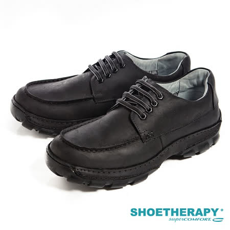 SAPATOTERAPIA(男) 巴西舒適寬板綁帶 有機休閒鞋-黑(另有深咖)