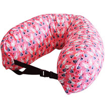 《DQ》扣式顆粒護頸枕(粉紅兔)