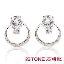 石頭記 精靈之舞-魅力白水晶耳環