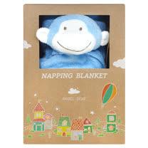 美國 Angel Dear 大頭動物嬰兒毛毯 (藍色小猴)