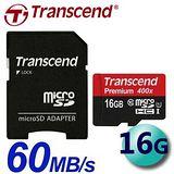 Transcend 創見 16GB 60MB/s microSDHC UHS-I C10 記憶卡