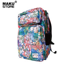 【MAKU STORE】秋新款韓版型男運動休閒旅行潮後背包-彩色圖案