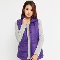 TOP GIRL-簡約立領棉背心-紫