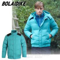 【波萊迪克bolaidike】男新款 立體輕量防潑水透氣保暖羽絨外套(帽可拆)/TF052 綠