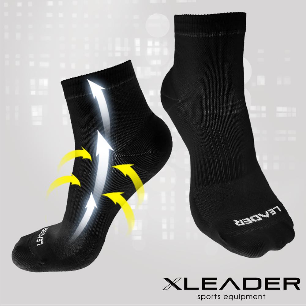 【LEADER】COOLMAX  薄型除臭機能襪 男款 黑色