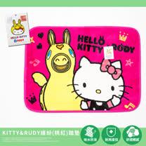 La_Veda 〔Kitty&Rudy繽紛-桃紅〕踏墊