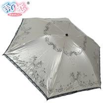◆日本雨之戀◆鈦金膠散熱降溫3~5℃摺疊傘 - 相思葉【香檳金內黑】遮陽傘/雨傘/晴雨傘/專櫃傘
