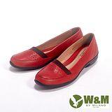 W&M (女)SOFIT系列 透氣洞洞氣墊休閒女鞋-紅