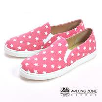 WALKING ZONE (女)小星星直套內增高鞋-粉