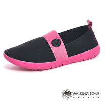 【WALKING ZONE】 (女)COLOR RUN-3D超彈力休閒女鞋-黑(另有灰/紅/藍)