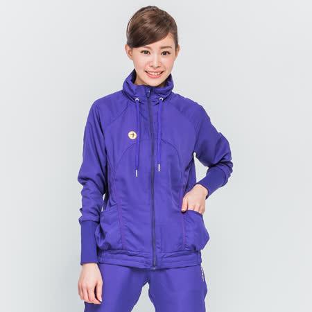 TOP GIRL 立領抽繩風衣外套-紫